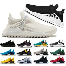 ce56fdf0058fd Discount pharrell sneakers laces - Cream Colete Cheap Wholesale Pharrell  Williams human race nmd Black yellow