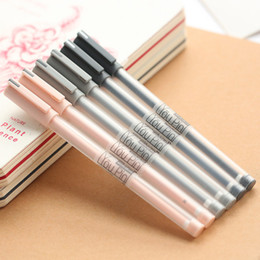 2019 canetas finas de gel Normal Gel-Ink 6 Pçs / lote Breve Qualidade Gel Pen Needle 0.35Mm Fine Point Pen Canetas Gel de Tinta Preta Para Escrever Plástico canetas finas de gel barato