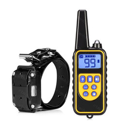 Wholesale Remote Pet Training - Pets Dogs Training Collars Device Waterproof LCD 800 Yard Shock Vibra Remote Control Dog Training Collar avoid dog lose
