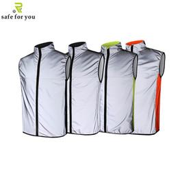 Canada Livraison gratuite veste de cyclisme réfléchissante pour la sécurité extérieure cheap full reflective jacket Offre