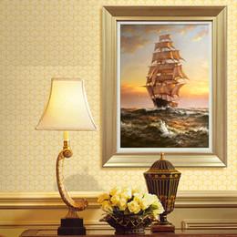 contemporâneo flores pinturas Desconto Cópia da lona de pintura a óleo Seascape navio de guerra navio de vela imagem moderna decoração de casa presente para sala de estar parede