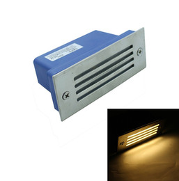 Wholesale Industrial Steps - Wholesale- Ulter bright 3W Aluminium LED Wall Corner Light. outdoor lamp IP67 led footlight aisle stair Square outdoor step path lights