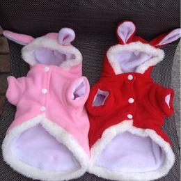Wholesale Clothes Coats For Rabbits - Cute Cat Easter Rabbit Animals Suit Clothing For Cats Christmas Costume Fleece Warm Pet Appare Coat Suit