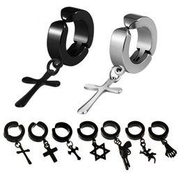 Wholesale ear clips hole - Trendy Stainless Steel Brinco Earings Hot-selling Ear Clip Korean Version Of No Hole Men's Earrings