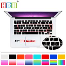 Wholesale Macbook Keyboard Uk - HRH Arabic Language UK EU Silicone Keyboard Cover Skin Protective Film for MacBook Pro Air Retina 13 15 17 Before 2013