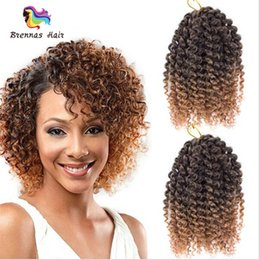 Wholesale Synthetic Curly Hair Wefts - Wholesale Price 8 inch Mali Bob 3pcs set Marly Synthetic Braiding Hair Extension Jerry Curly Hair Wefts for Black Women