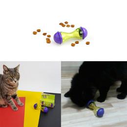 Giocattoli di interazione online-New Pet Leakage Tumbler Interaction Giocattoli educativi Bone Shape Shake perde cibo Giocattoli per gatti e cani