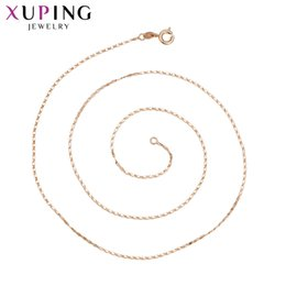 Wholesale Fashion Jewelry Deals - whole sale11.11 Deals Xuping Fashion Rose Gold Color Plated Necklace Charm Style Long Necklace Women Girls Chain Jewelry Gift S74-44123