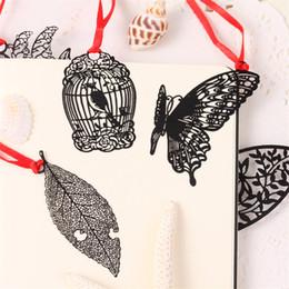 marcadores de papel mariposa Rebajas 2018 Novedad Mariposa Pluma Metal Clip Clip Papelería Oficina Suministros Escolares Papelería Escolar Papelaria Envío Gratis