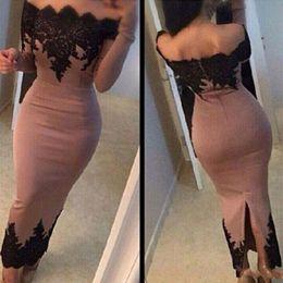 Ayak bileği uzunlukta Uzun Kollu Abiye Omuz Siyah Dantel Saten Arapça Örgün Parti Balo Abiye Kadınlar Abiye Yeni Ücretsiz Kargo Kapalı nereden zambak collins elbiseleri tedarikçiler