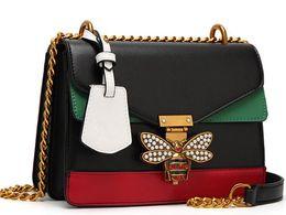 ca9632cde4 Serie di marca di lusso tricolore miele api donne borsa moda donna borse in  vera pelle borse donna borse di lusso borse donna designer sconti stella