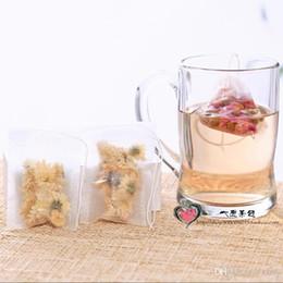 Wholesale Eco Friendly Wood - 1000pcs 6*8 cm Empty Seal Tea Bags Filter Loose Tea Bags Yin Single Drawstring Non-Woven Lotus Leaf Tea Bag Empty Wholesale