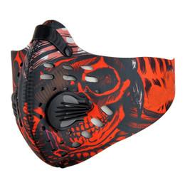 Radfahren kostüm online-Radfahren Gesichtsmaske Aktivkohle Vliesstoff Breathable staubdicht Einstellbare Outdoor Halloween Kostüme Zubehör