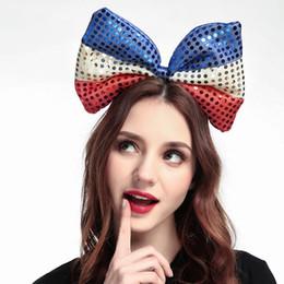 Souvenir europei online-2018 Coppa del Mondo di Russia Europa e Stati Uniti Moda Stile Bandiera Head Hoop Fan di Coppa del mondo Fan di cerchi di capelli Forniture di souvenir