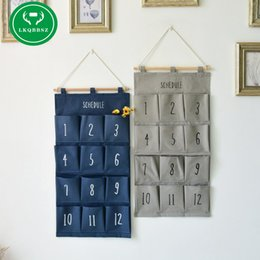 Wholesale Closet Child - Wall Hanging Storage Bags Organizer Closet Children Room Organizer Pouch for Toys Books Cosmetic Sundries Hanging Storage Box