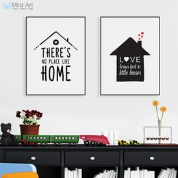 Wholesale Picture Framing Quotes - Nordic Minimalist Typography Love Quotes Art Print Poster Nursery Wall Picture Canvas Painting No Frame Living Room Home Decor
