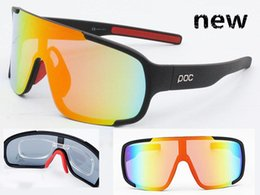 Wholesale Running Sunglasses Women - The New POC Polarized 8 Colors Sun Glasses 3 Lens Polarized Sunglasses For Men Women Sport Cycling Bicycle Eyewear Running TR90 Sunglasses