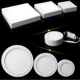 Wholesale high touch surfaces - 25W LED Light Surface Mouted Ceiling Downlight Panel LED Light with driver 85-265V High Lumens Down