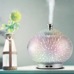 umidificador de nevoeiro Desconto Ultrasonic névoa fria máquina de aromaterapia purificador de ar umidificador de baixo ruído colorido noite lâmpada umidificador de ar