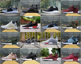 Wholesale Shadow Duck - 2018 Original PK Running Shoes Cheap Sneaker XR1 Primeknit OG PK Zebra Bred Blue Shadow Noise Duck Camo Core Black Fall Olive
