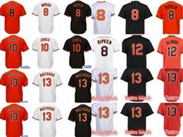 Wholesale Flash 13 - Men's #8 Cal Ripken Jr. 13 Manny Machado 10 Adam Jones jersey Cheap 12 Roberto Alomar stitched Embroidery Baseball Jerseys Free Shipping
