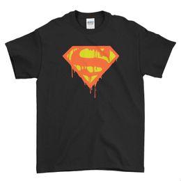 Cómics de acero online-Venta al por mayor Logo DC Comic Marvel Man of Steel Men T Shirt Top Tee A101