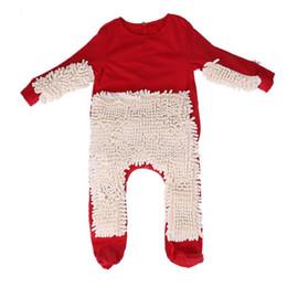 Bebé rojo en general manga larga niños fregona escalada ropa recién nacido mono piso limpio suave Swob juego traje desde fabricantes