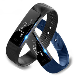 Wholesale Apple Pedometer - New Original ID115 Smart Bracelet Fitness Tracker Step Counter Sleep Tracker Pedometer Heart Rate Monitor Smart band Wristband
