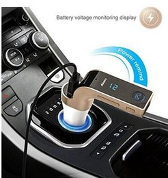 Wholesale Tf Card Prices - 2018G7 Smartphone Bluetooth Car Kit Wholesale Price MP3 Radio Player FM Transmitter Modulator 2.1A Car Charger Wireless Kit Micro SD TF Card