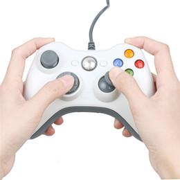 microsoft pc juego controlador Rebajas Cable USB Joypad Gamepad Controlador de juegos Joypad para Microsoft Xbox Slim 360 PC Windows7 Joystick Controlador de juegos