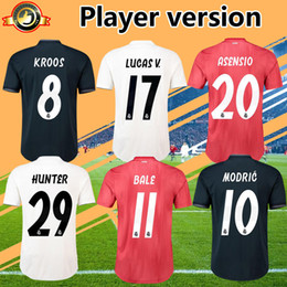 dc06e193c Player version champions league 2019 real madrid soccer jersey home away  third maillot de foot 18 19 HUNTER MODRIC ASENSIO football jerseys real  madrid ...