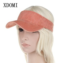 XDOMI 2018 Primavera Verano Sombrero de visera para mujer Ajustable de ala  ancha Sombrero Sombrero Moda Casual Gorras de playa para mujeres   niñas  viseras ... 8a1064c09392