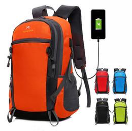 2018 Nuovo stile multiuso esterno USB ricarica zaino sportivo borsa da campeggio zaini borsa da viaggio zaino del computer da