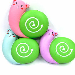 Wholesale Tang China Wholesale - Squishy Snail Decompression Toy Cartoon Animal Shape Squishies Venting Toys Kid Gift Multi Color 12 8st C