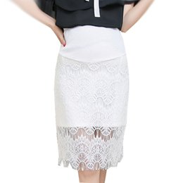 8f65e72662b20 Pregnant Lace Hip Package OL Skirt Spring Summer Classic Solid Skirts for Pregnancy  Maternity Elegant High Waist Bottoms Clothes
