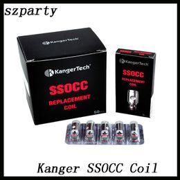 Wholesale Kangertech SSOCC Bobinas verticais Ni200 ohm ssocc bobina ohm Para kanger Subtank Nebox subvod TOPBOX