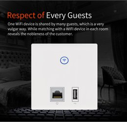 Wholesale 48v Controller - 300Mbps In Wall WIFI Access Point Wall AP 1R45,1 USB for hotel WiFi Project PoE VLAN Access Controller System Support 48v poe