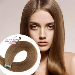 10 # Bant İnsan Saç Uzantıları 20 adet / takım Bal Kahverengi Hint Remy Saç Bant 4 cm * 0.8 cm Pu Cilt Atkı Saç Uzantıları nereden hint remy teyp saç uzantıları tedarikçiler