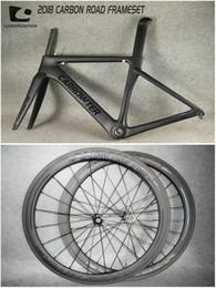 Wholesale Wheelset Sale - Packaged for sale Frameset+Wheelset Black on Black CARROWTER carbon road frames , CARROWTER 50mm carbon wheels with 20.5mm Novatec A271 Hubs