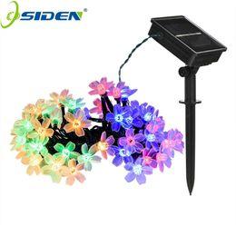 Солнечные цветы онлайн-OSIDEN 100 LED Solar String Flowers Fairy Lights Waterproof Outdoor Solar String Lights Decorated Garden Christmas Holiday light
