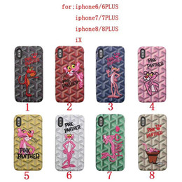 Wholesale panther cover - Case for iPhoneX 8 8plus Luxury Brand Embroidery Panther Y Pattern matte Phone Case for iPhone7 6 6S 7plus hard back cover shell hight quali