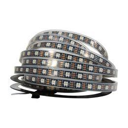 Wholesale Rgb Strip Wire 4pin - NEW Dream Colour 5M 60led M 300Leds WS2812 IC 5050 RGB LED Strip Light IP20 IP67 Waterproof DC 5V 4PIN