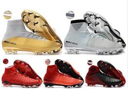 Wholesale football photos - 8 Photos 2018 ronaldo soccer cleats leather mercurial superfly cr7 Quinto Triunfo V FG AG Crampons de football boots SX neymar soccer shoes