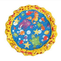 outdoor play pad UK - PVC Colorful Water Spray Pad Inflatable Sprinkling Mat Toy Kid Playing Toy Kid Water Poll Baby Kids Outdoor Fun Play