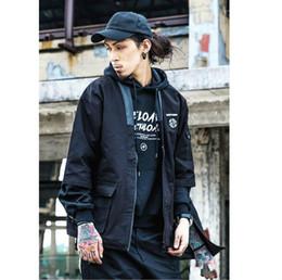 Ropa precios bajos online-Precio bajo Kimono Chaqueta japonesa 2018 Spring Streetwear Hip Hop Hombres Chaquetas Lino Chaqueta fina Ropa masculina Khaki Negro Kanye West M-XL