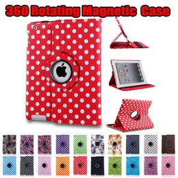 Canada Polka Dot Flower 360 Rotation Magnétique PU En Cuir Stand Stand Smart Cover Pour Nouvel iPad 2017 9.7 Pro 10.5 2 3 4 5 6 Air Mini Mini2 Mini3 Offre