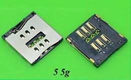 Sim steckverbinder online-Modelle Micro SIM Kartenleser für Iphone 5 5c 5S 6 6 plus SIM Tray Slot Socket Ersatzstecker