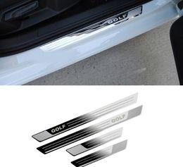 Vw sills on-line-Carro para VW Volkswagen Golf 7 MK7 2012-2017-estilo do carro porta de aço inoxidável soleira placa chinelo acessórios adesivos de carro