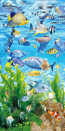 Wholesale Glazing Tiles - 1200 x 1200mm  1800 x 3200mm Sealife picture 3D interior floor tiles wall tiles made in china