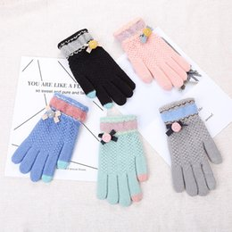 handschuhtelefon Rabatt AudWhale Winterhandschuhe Für Frauen Baumwolle Gestrickte Samt Damen Handschuhe Mode Telefon Touch Handgelenk Patchwork Frauen